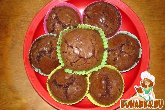 Рецепт Кексики из горького шоколада