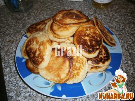 Рецепт домашние оладьи на кефире