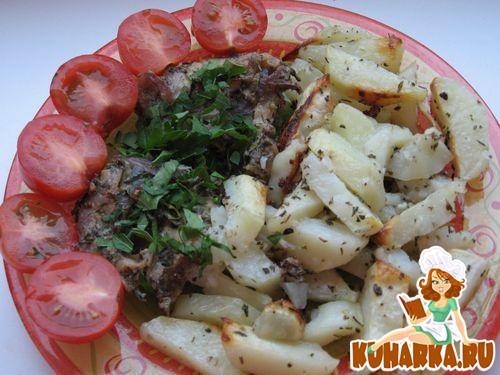 Рецепт Свинина с медом, горчицей и зеленью