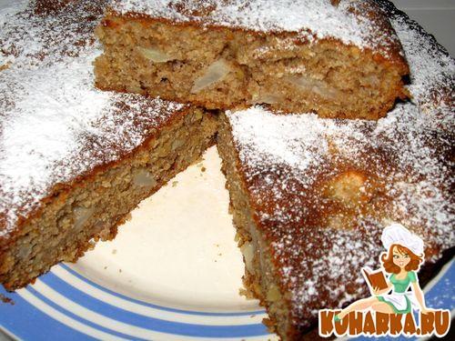 Рецепт Яблочно-медовый пирог с грецкими орехами