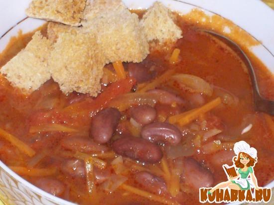Рецепт Фасолевый томатный суп