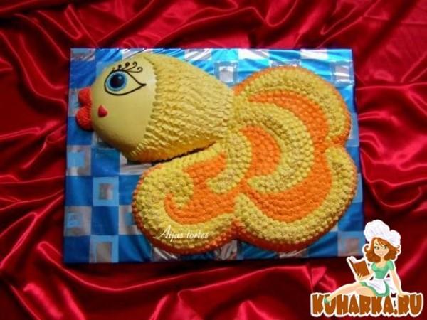торт золотая рыбка фото