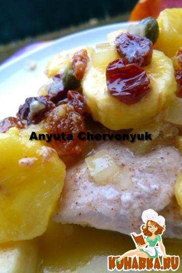 Рецепт Свинина с осенними фруктами.