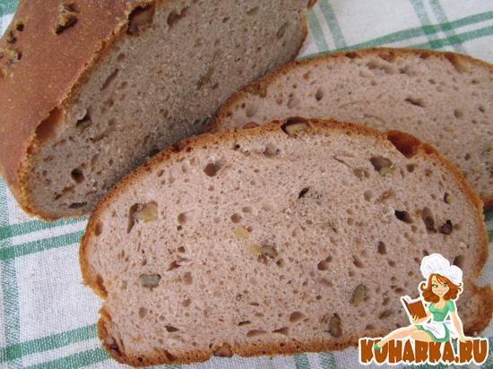 Рецепт Гречневый хлеб с грецкими орехами.
