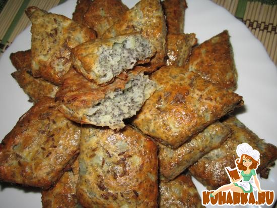 Рецепт Луковнички с маком (Цибуляники з маком).