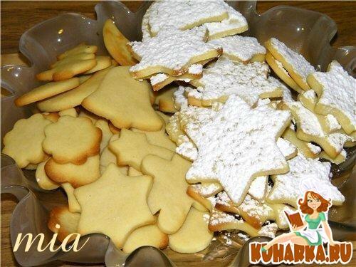 Рецепт Масляное печенье (Butterplaetzchen)