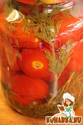 Рецепт Помидоры консервированные с морковной ботвой