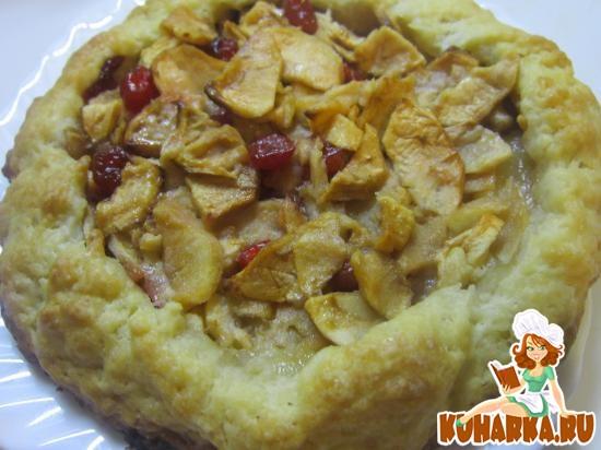 Рецепт Яблочная галета с вяленой вишней