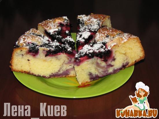 Рецепт Фруктово-ягодный пирог на кефире.