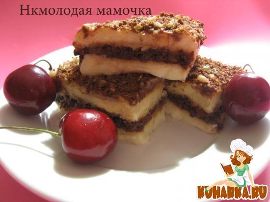 Рецепт Турецкий десерт из манной крупы с молоком.