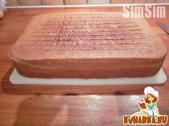 Рецепт Ванильный маслянный бисквит на желтках (Yellow butter cake)