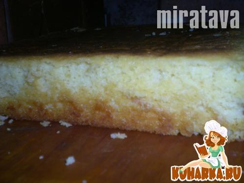 Рецепт Роскошный Золотистый Торт (Масляный Бисквит)