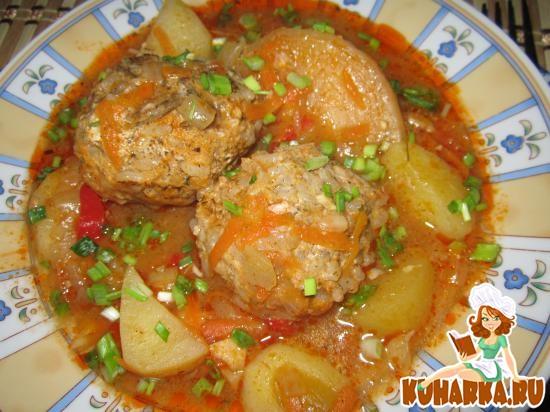 Рецепт Тефтели с овощами