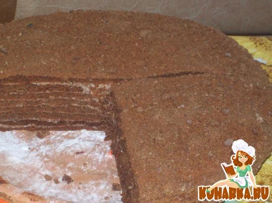 Рецепт Шоколадно - медовый торт