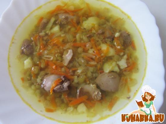 Рецепт Суп с куриными потрошками