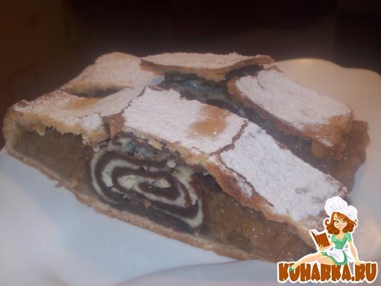 Рецепт Яблочный пирог с рулетом