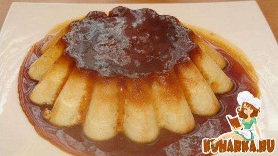Рецепт Нежный флан с карамельным соусом