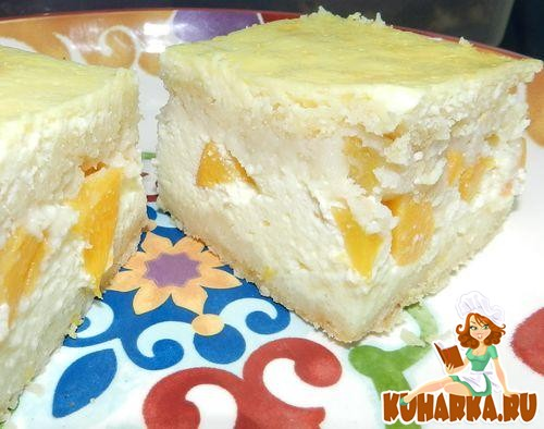 Рецепт Пирожное с творожным кремом и персиками