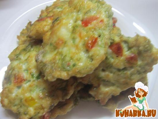 Рецепт Рубленые куриные котлеты с перцем и зеленью