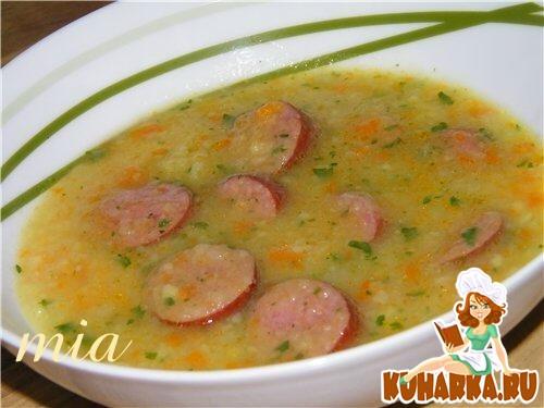 Рецепт Картофельный суп-пюре с колбаской