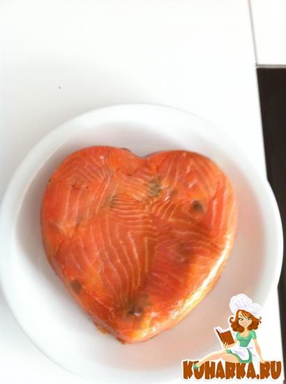 Рецепт Закусочный торт из семги