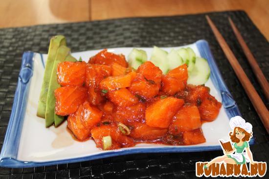 Рецепт Семга по-японски с отварным рисом для суши