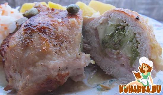 Рецепт Фаршированные свиные отбивные
