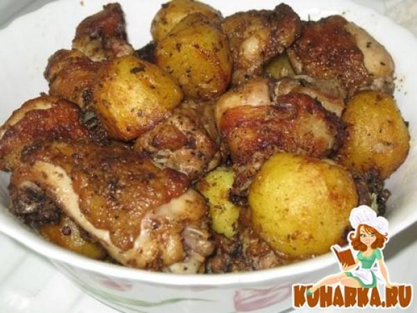 картошка с курицей в казане рецепт с фото