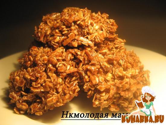 Рецепт Овсяное печенье без выпечки.