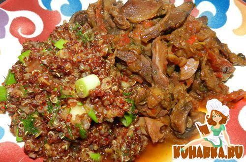 Рецепт Красная киноа с овощами
