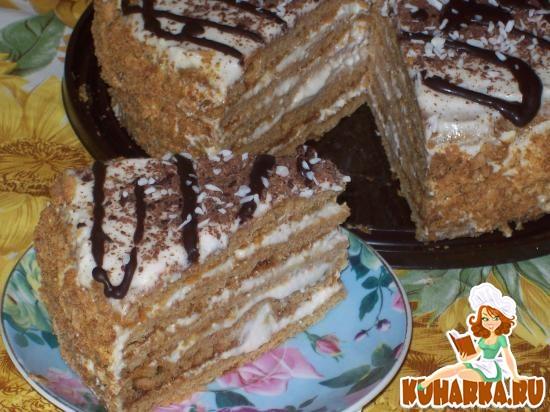 Рецепт Медовый торт с корицей