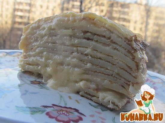 Рецепт Кокосовый блинный пирог