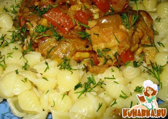 Рецепт Индейка с морковью и сельдереем