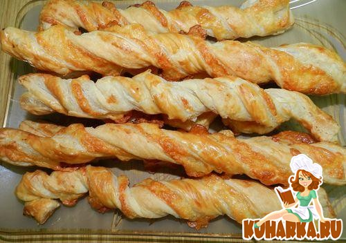 Рецепт Сырные палочки с пряностями