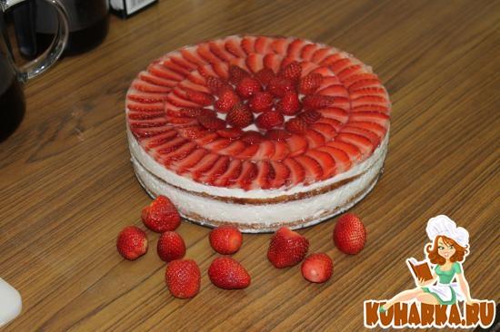Рецепт Торт клубника со сливками