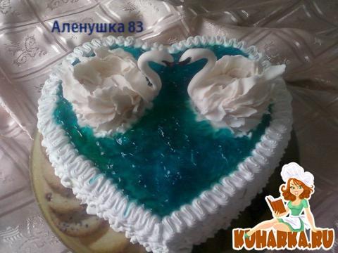 Как сделать лебедей на торт