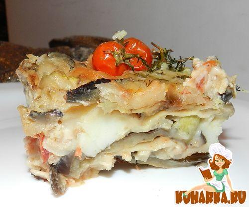 Рецепт Лазанья с баклажанами в соусе матбуха