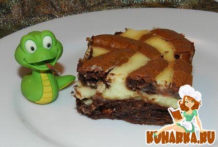 Рецепт Брауниз творожно-шоколадные.