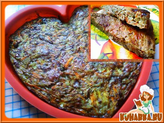 Рецепт Запеканка из кабачка и печени