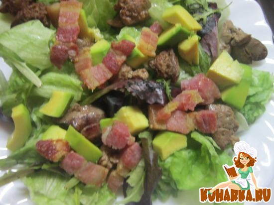 Рецепт Горячий салат с куриной печенью