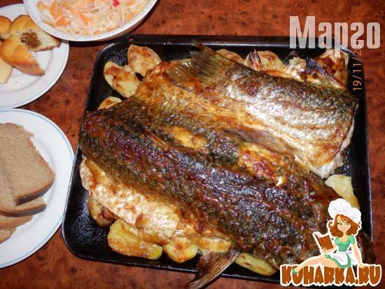 Рецепт Запеченная рыбка.