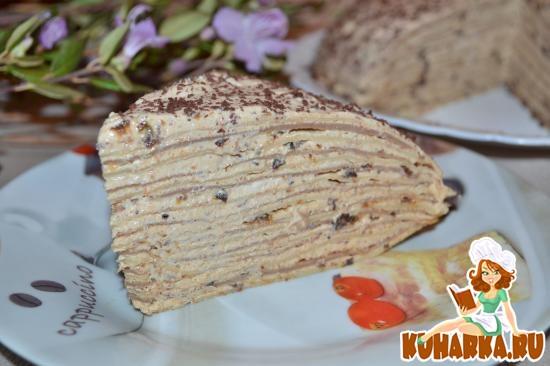 """Рецепт Блинный торт """"Искушение"""""""