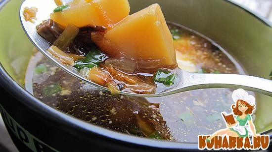 Рецепт Суп с сухими грибами