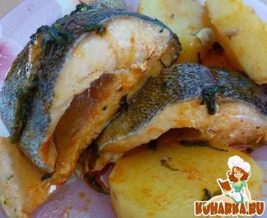 Рецепт Нежная рыбка с картошкой