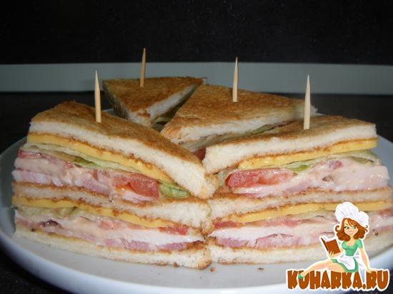 Рецепт Клубный Сэндвич (Club Sendwich)