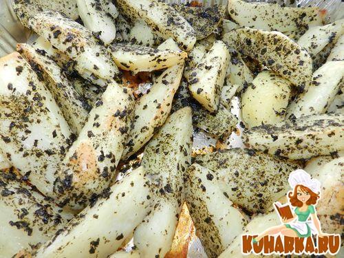 Рецепт Запечённый картофель с нори