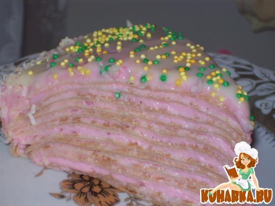 Рецепт Блинный торт с кисельным кремом