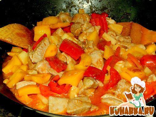 Рецепт Индейка в кисло-сладком соусе по-китайски