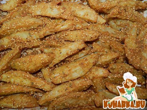 Рецепт Картофель в кунжутном соусе