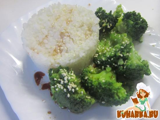 Рецепт Брокколи в тайской заправке с рисом